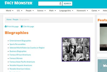 Fact Monster Biographies