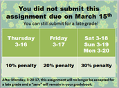 Assignment Due Date