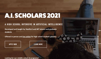 AI Scholars Live Online - Now accepting Applications for Summer