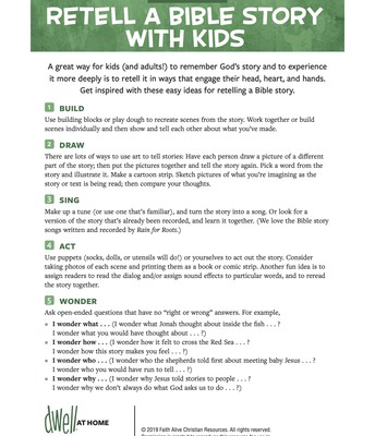 Five Ways to Retell a Bible Story with Kids