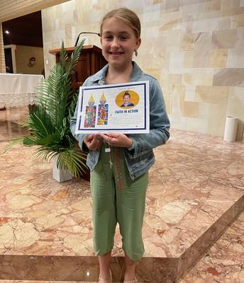 Tahlia - Faith in Action Award