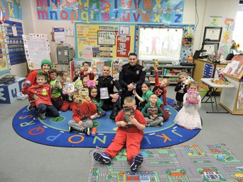 Thank you for our gifts from our town Police!