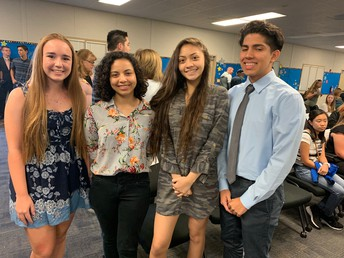 CNUSD honors four of our students!
