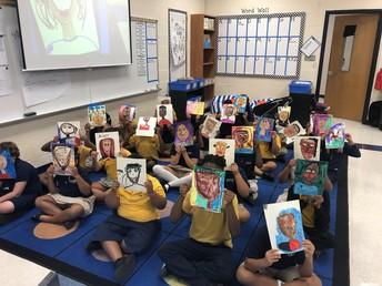 2nd Grade Self Portraits
