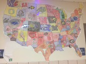 College Map outside Mrs. Kim's room!