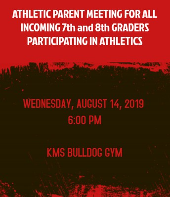 Incoming 7th/8th Athletic Parent Meeting