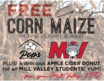 FREE Pop's Corn Maze & Donut (because your PTO loves YOU)!