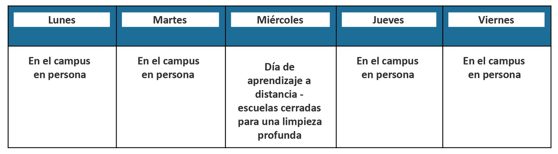 Decorative image of a school schedule.