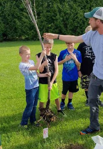 Planting a Tree for Earth Day