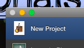 "Select ""New Project"""