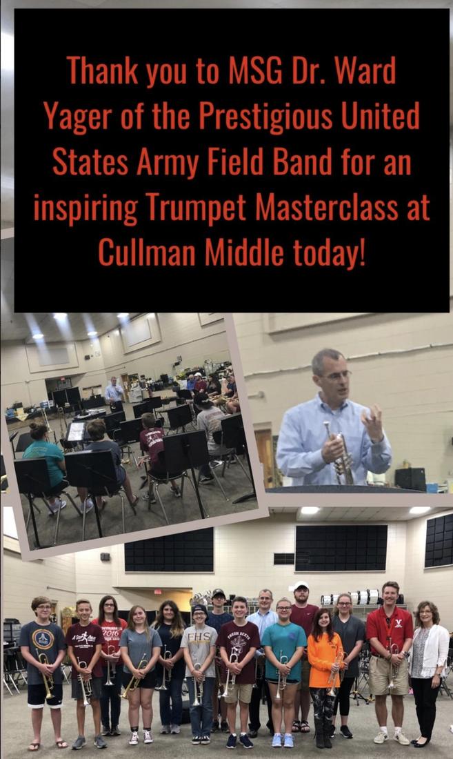Master trumpet instruction at CMS