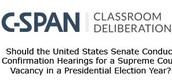 C-SPAN Classroom Deliberations