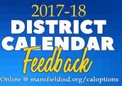 District 2017-18 Calendar Survey - closes today @5:00