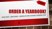 5th Grade Parents: Order a Yearbook Ad