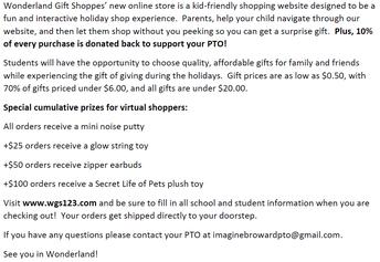 PTO's Virtual Holiday Shoppe