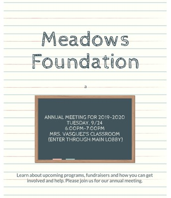 Annual Foundation Meeting THIS Tuesday