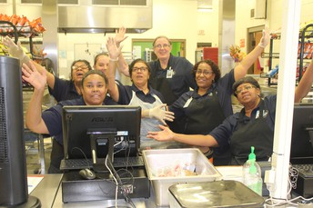 Our wonderful cafeteria ladies!!