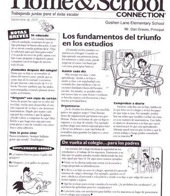 Conexion entre el hogar y la escuela en espanol