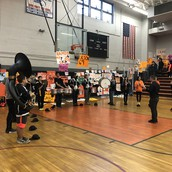 Marching Panthers Band Playing