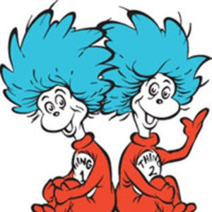 Meet Thing 1 and Thing 2 from the Cat in the Hat!