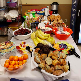 Cedar Park Staff Enjoy Staff Appreciation Continental Breakfast