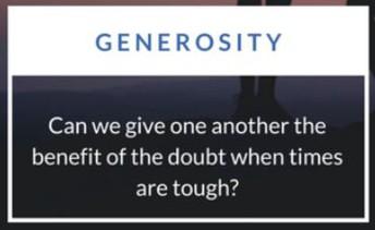MAY - Generosity