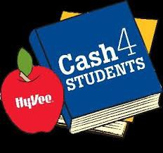 HyVee Cash 4 Students; Please Turn In Receipts