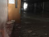 Flooded hallways of A.C. Blunt