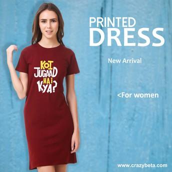 Women T Shirt Dress Online at Reasonable Price