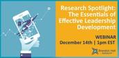 Research Spotlight: The Essentials of Effective Leadership Development