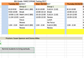 8th Grade PARCC Schedule