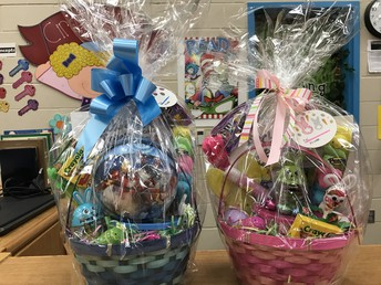 Easter Baskets donated by Officer X. Sanchez & Mrs. Sanchez