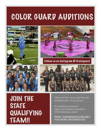 Know someone who would be a good fit for the Creek Winter Guard?