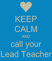 Lead Teachers (reminder)