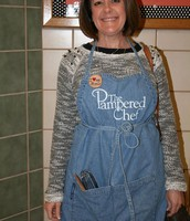 Mrs. Wooten in her Pampered Chef's best!