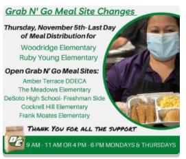 Child Nutrition Grab N' Go Meals Update during the Holiday Break