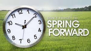 Reminder: Daylight Savings Time Starts Sunday