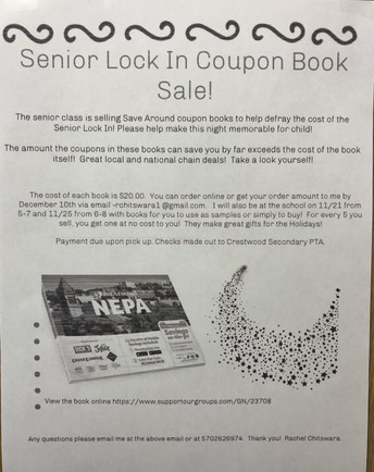 Senior Lock In Coupon Book Sale
