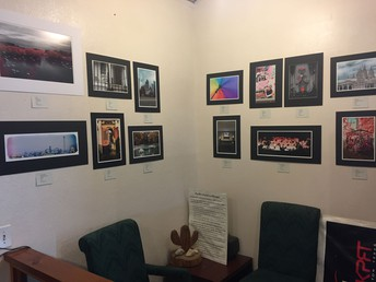 Kerr High School student artwork is on display and for sale in Houston area radio station KPFT.