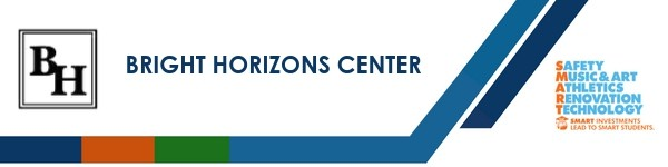 A graphic banner that shows Bright Horizon Center's name and SMART logo