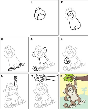 Monkey Drawing activity