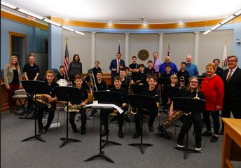 Lincoln Jazz Ensemble Performs at City Hall