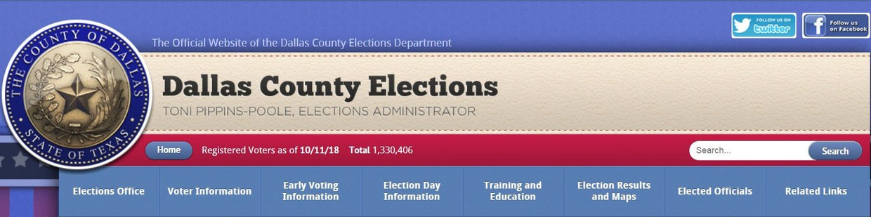 Dallas County Elections Website