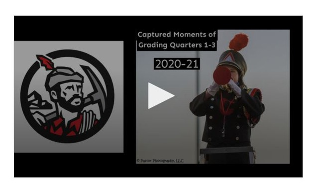 Front Slide of Video (Hilltopper logo and Marching Band student) Click image to begin video.
