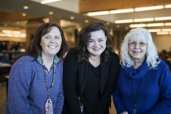 Three Bozeman High School Librarians