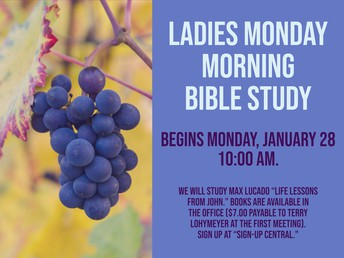 Ladies Monday Morning Bible Study