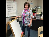 Mrs. Healy is ready for the luau!