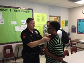 Officer Alexander assisting Courtland