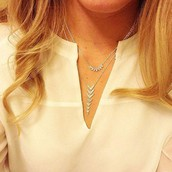 Arrow Drop necklace (bottom one) £25  RRP £50