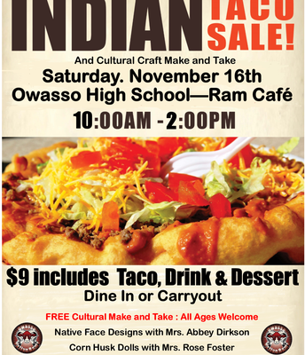 OHS Indian Taco Scholarship Fundraiser!